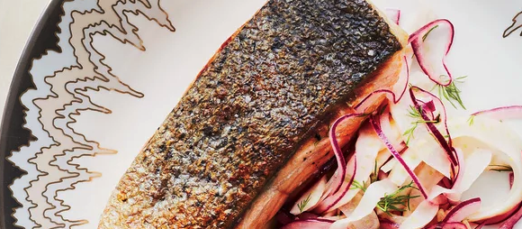 Recipe: Crispy Salmon with Fennel Slaw